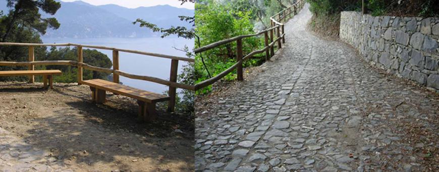 Parco di Portofino  - Lavori di miglioramento e riqualificazione del percorso in località Gave in Comune di Santa Margherita Ligure