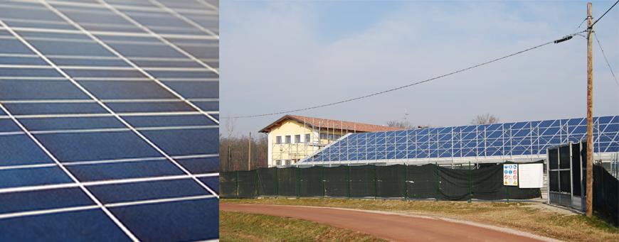 Costruzione di una serra con impianto fotovoltaico